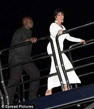Kris Jenner rocks pretty crochet dress as she parties on the French Riviera with Corey Gamble   Kris Jenner is still on her vacation to the South of France and she spent herTuesdaynight at a yacht party in St. Tropez France. The mom-of-six donned a white crochet dress with a slit that showed off her toned legs just like the outfit she was photographed wearing earlier.  She went with her boyfriend Corey Gamble who walked closely behind her as they boarded the yacht. Obviously excited she…