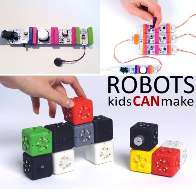 If your kids love exploring science and technology I bet they would love to explore robotics.  These are all robots that kids can make!