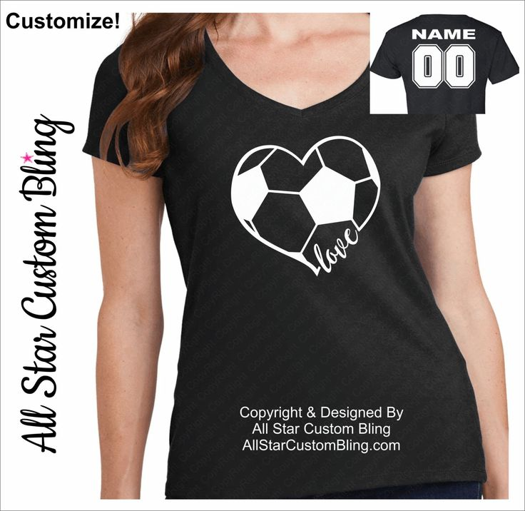 Love Soccer Shirt With Name Player Number, Soccer Mom Shirt, Custom Soccer Shirt, Shirt For Soccer Mom, Soccer Mom Tee, Personalized Soccer by AllStarCustomBling on Etsy