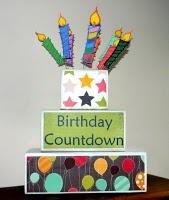 Birthday countdownBirthday Parties, Cute Ideas, Parties Ideas, Birthday Block, Parties Time, Countdown Block, Birthday Decor, Homey Birthday Countdown, Birthday Ideas