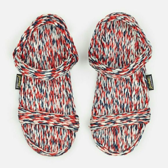 OPENING CEREMONY EXCLUSIVE GURKEE MONTEGO SANDAL 9 Gurkee Montego Rope Sandal Opening Ceremony Exclusive Color - Red White & Blue  Made in USA Women's size 9 - will work for 8.5 as well New - only worn to try on Opening Ceremony Shoes Sandals