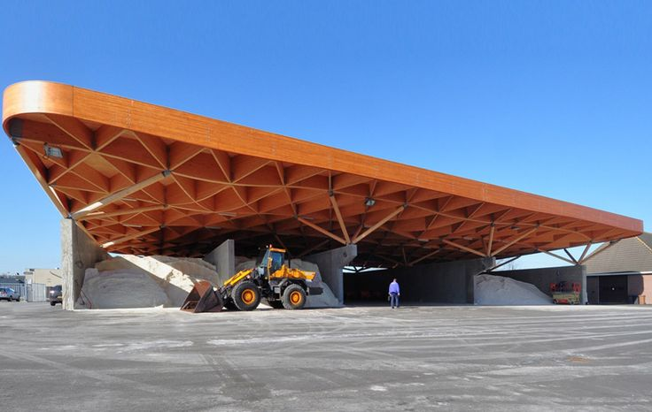 24H unites highway support center beneath gridshell roof