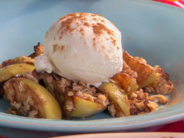 Apple Crumble with Vanilla Ice Cream from FoodNetwork.com: Bobby Flay ...