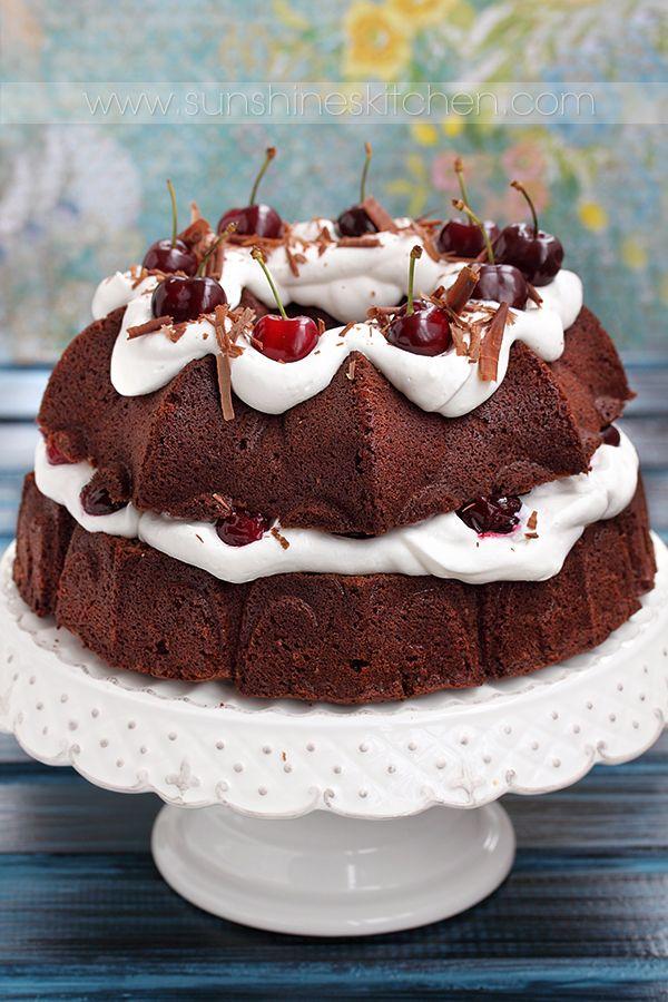 black forest bundt cake
