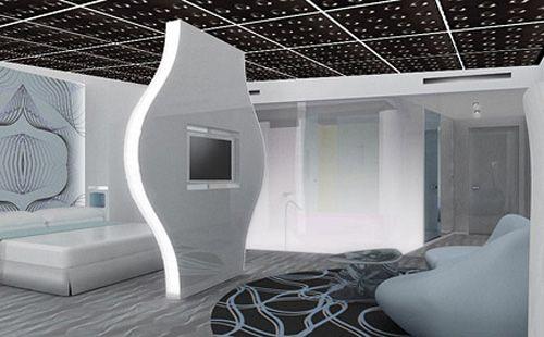 black plastic ceiling panels for black and white living room design