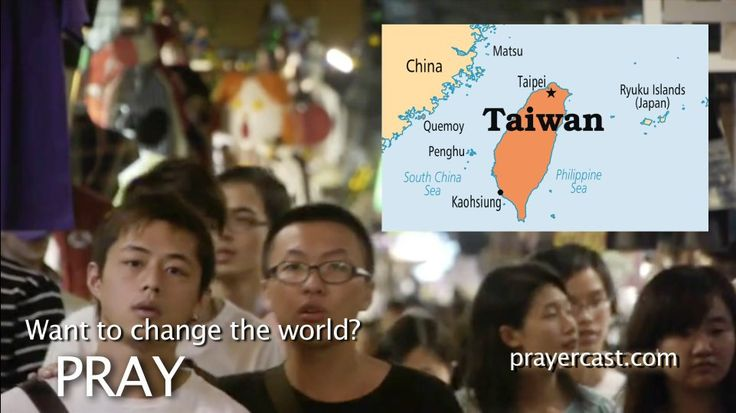 Pray for Taiwan with this short video: http://www.prayercast.com/taiwan.html • Pray for many more missionaries to share the Good News of Jesus in this politically open land.   • Pray for the chains of idol worship, superstition, and false religion to be broken by the power of Jesus.   • Pray for the Gospel to infiltrate and transform the working class that is less than .5% Christian. http://www.operationworld.org/chnt