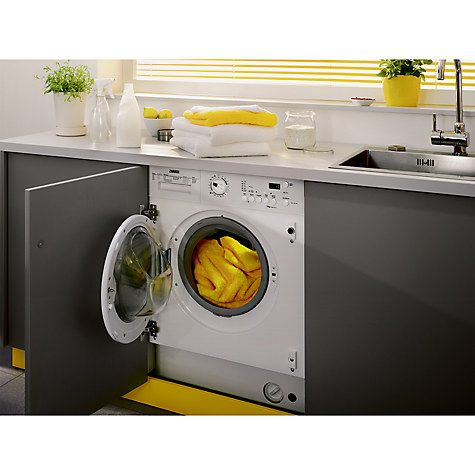 Buy Zanussi ZWI71201WA Integrated Washing Machine, 7kg Load, A   Energy Rating, 1200rpm Spin, White Online at johnlewis.com