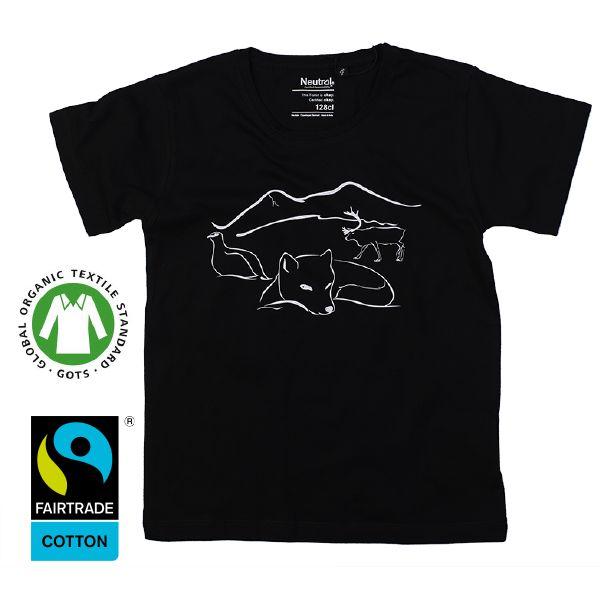 www.klappi.se #Ekologiskabarnkläder från #Lappland #norrland. #eko #ekoreko #ekologisk #svenskdesign #ekokläder #giftfritt #kläppi #klappi.se Product: #t-shirt #tshirt #grey #black #svart #Lapland #arcticfox #fox #fjällräv #räv #reindeer #ren #grouse #ripa. #eco #oekotex100 #lovefromlapland #swedishlapland #fairtrade #organiccotton #organic #scandinavian #schwedischen #organickidswear #kidsfashion #sustainablefashion #sustainable #gots #swedish #swedishdesign #swedishbrand