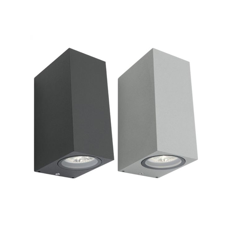 Brugge+10w+LED+Up+Down+Square+Aluminium+Exterior+Wall+Light+Cougar+Lighting, $59.00