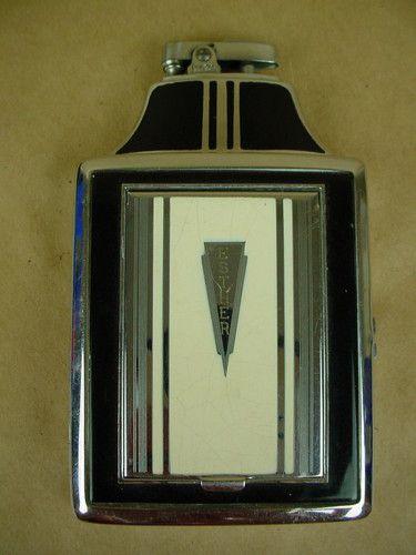 Ronson Beautiful 1920s Art Deco Cigarette Lighter & Case