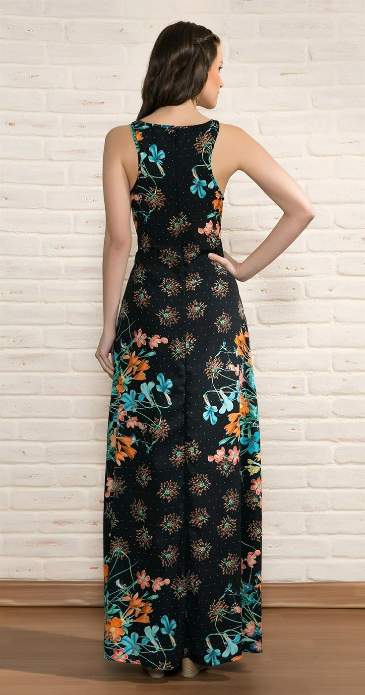 Vestido Longo Floral Poás   Novidades   Antix Store