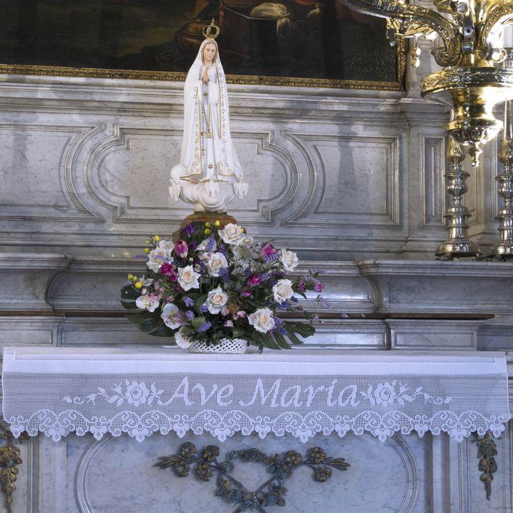 Esquema para borde mantel de altar, ganchillo filet - Complementos - Dormitorio - Manidifata.it