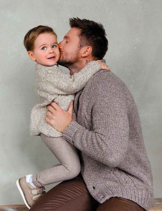 Sergey Lazarev and his son