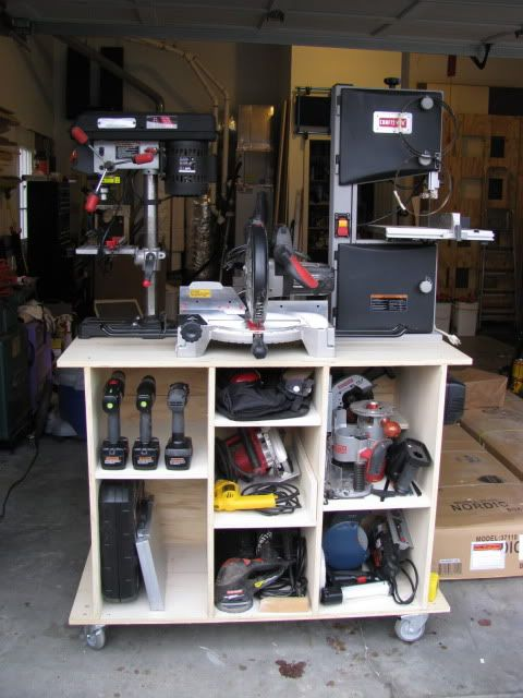 Shop Storage Solutions #8: Mobile Tool Cart (with photos) - by HokieMojo @ LumberJocks.com ~ woodworking community