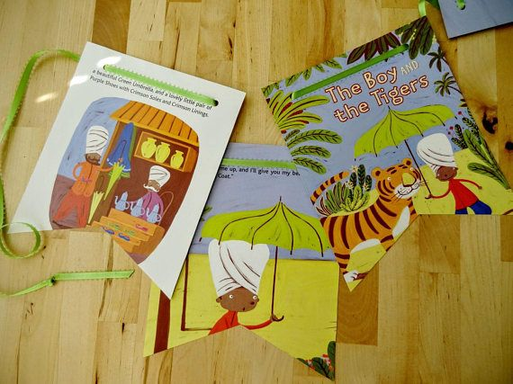 2 BOOK BANNERS TIGERS Boy Little Golden Book India Asia
