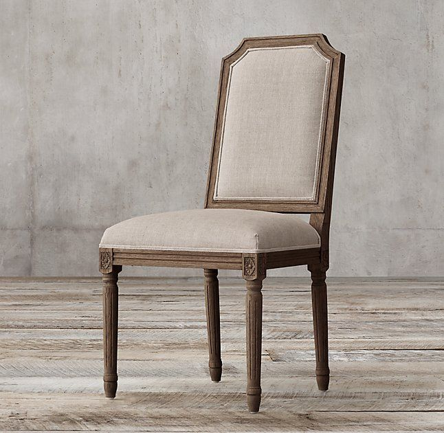 RHs Vintage French Sculpted Back Fabric Side ChairOur Reproduction Of A Louis XVI Dining Chair Displays The Elegant Restraint Emblematic Neoclassicism