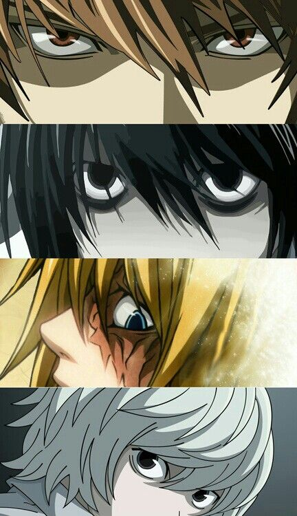 Death note top : Light Yagami aka Kira.  World's greatest detective : L  2nd successor to L : Mello. 1st successor to L : Near