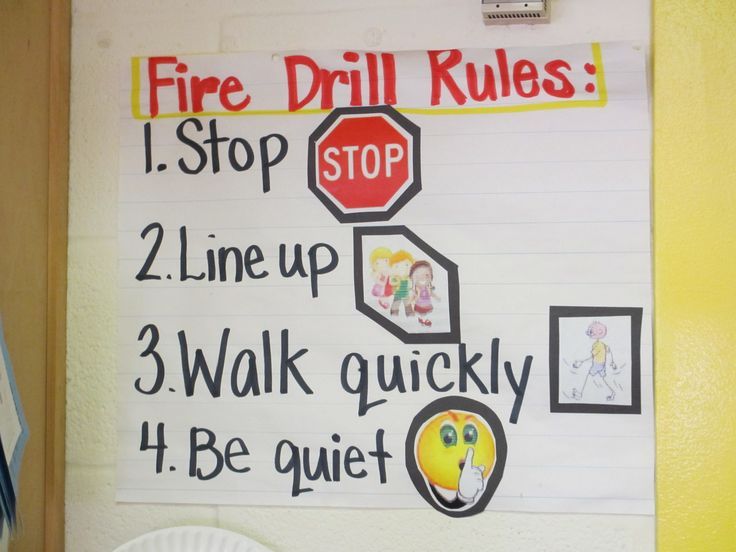 Fire Drill Rules: Classroom Stuff, Teacher Charts For Class, Fire Safety, Classroom Behavior Management, Classroom Organizationmanag, Classroom Management, Fire Drills, Classroom Ideas, Anchors Charts
