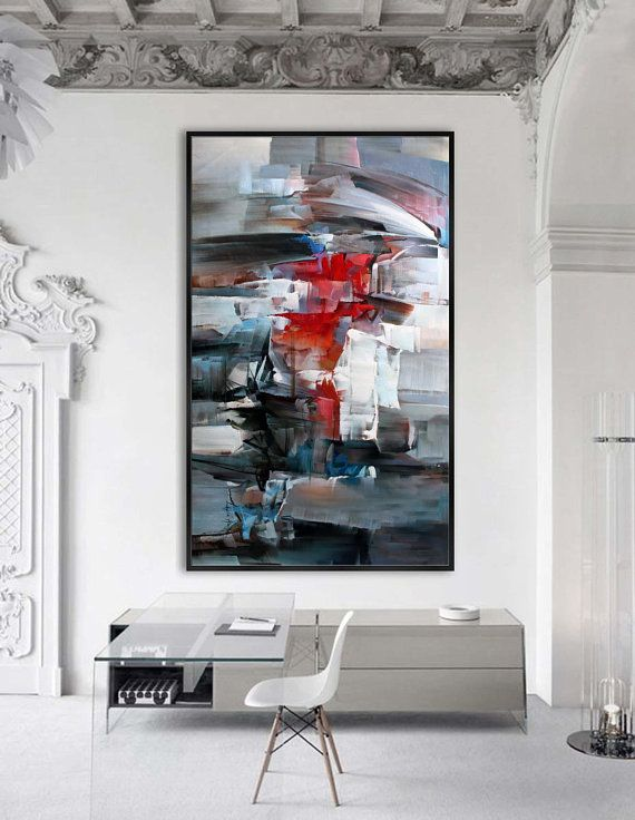 Contemporary Abstract Painting Extra Large Modern Wall Art Interior Paint Colors Living Room Paint Large Modern Wall Art