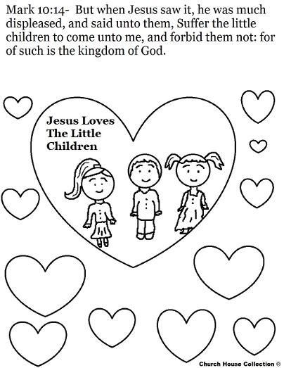 Jesus Loves The Little Children Coloring Page | church craft | Kids