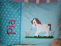 ♥ Kissen ★ Pferd ★ mit Namen bestickt + Inlett ♥