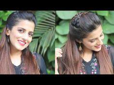 5 Coiffures rapides et faciles en queue de cheval pour les écoles, les collèges et les professions Coiffures indiennes pour les cheveux mi-longs - YouTube - # Profession #simple ...