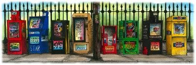 All the Papers, Toronto, Canada by Artist Illustrator David Crighton A – David Crighton Art