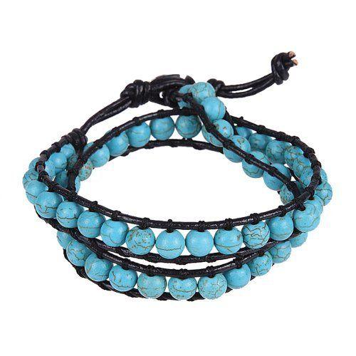 Trendy and Chic Turquoise Beads Wrap Genuine Leather Bracelet or Necklace, http://www.amazon.com/dp/B00C4AJY88/ref=cm_sw_r_pi_awdm_0UYSub0PAFWS2