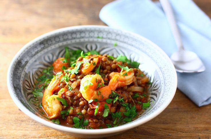 Een heerlijk winters gerecht met linzen, garnalen en Jamaican Jerk specerijen. Een linzenstoof die binnen 30 minuten op tafel staat.