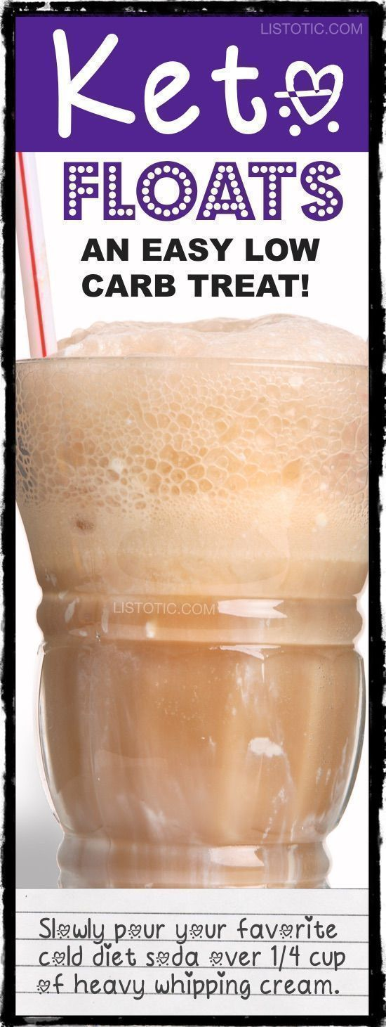 Easy Low Carb Dessert Recipe Drink... Keto floats! Perfect for a #ketogenic diet. -- 10 easy keto smoothie and drink recipes that will change the way you look at eating low carb. Listotic.com