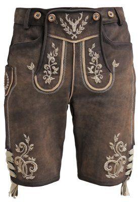 Krüger Dirndl Pantaloni di pelle - braun natur a € 220,00 (14/09/15) Ordina senza spese di spedizione su Zalando.it
