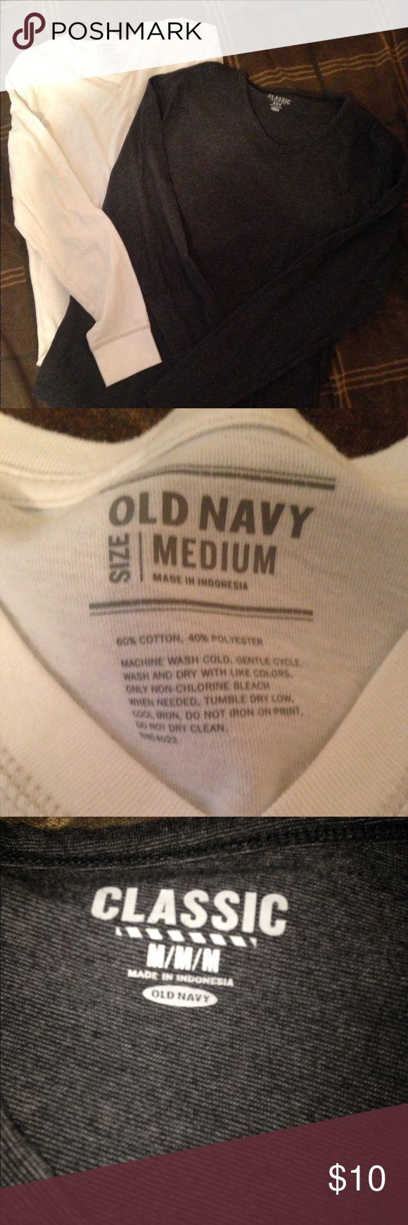 Old Navy shirts Bundle of 2 long sleeve, V-neck shirts, no stains or rips, like new Old Navy Shirts Tees - Long Sleeve
