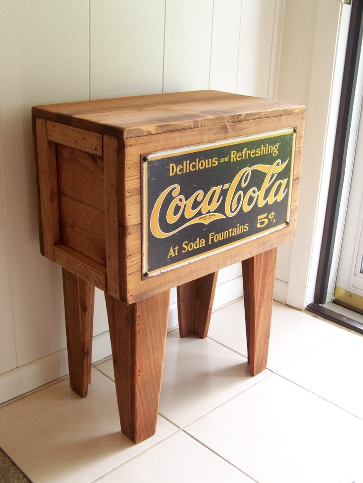 Reserved for kim coca cola shipping crate table 5 cent for Metal shipping crate