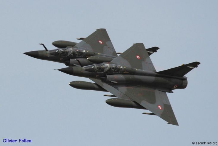 French Armée de l'Air Dassault Mirage 2000N 2013 Ramex Delta display pair.