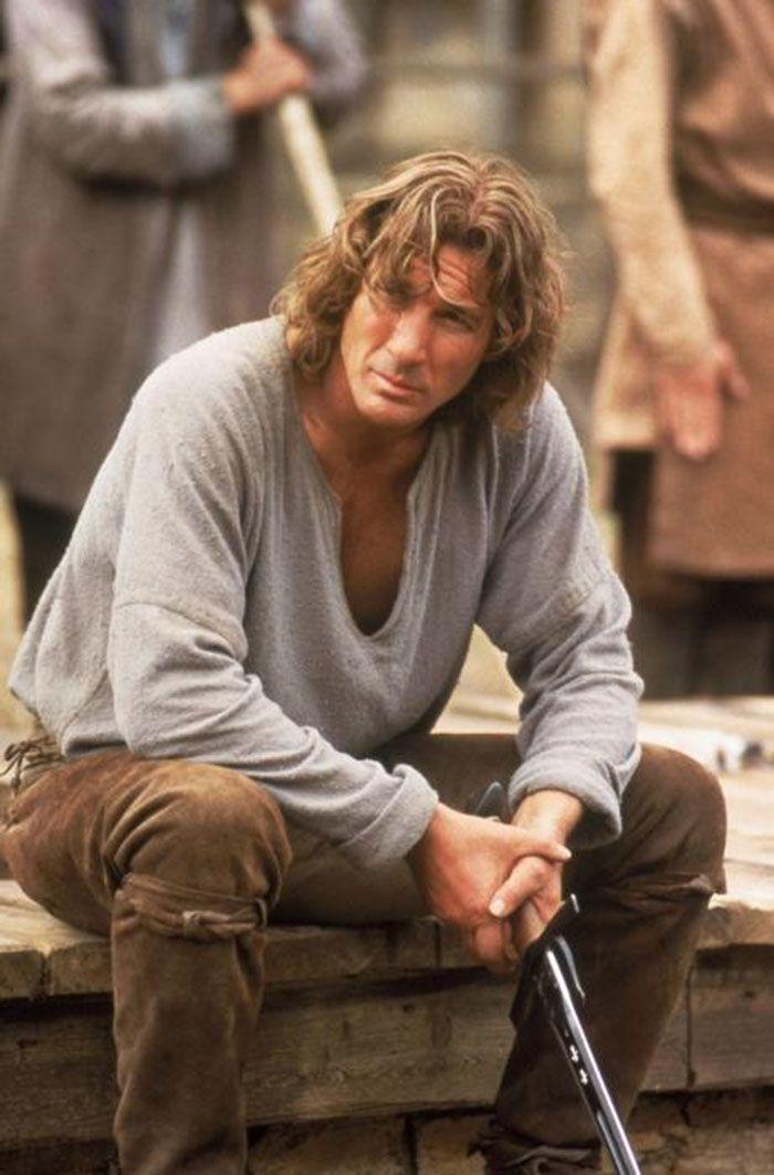 """Richard Gere durante el rodaje de""""El Primer Caballero"""" (First Knight), 1995"""