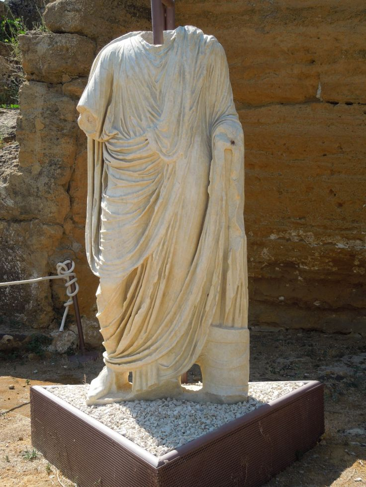 Headless Roman statue (Heads replaced with new heirarchy), Valley of the Temples, Sicily