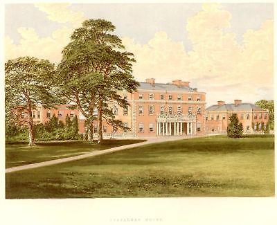 Morris's County Seats - Castles - TRAGALGAR HOUSE - Chromo - 1866