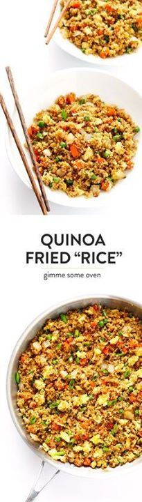 This 15-Minute Quino This 15-Minute Quinoa Fried Rice recipe...  This 15-Minute Quino This 15-Minute Quinoa Fried Rice recipe is the best!! Its super easy to make full of big flavors and its the perfect side or main dish. Feel free to add chicken pork tofu shrimp beef or veggies if youd like! | gimmesomeoven.com (Vegetarian) Recipe : http://ift.tt/1hGiZgA And @ItsNutella  http://ift.tt/2v8iUYW