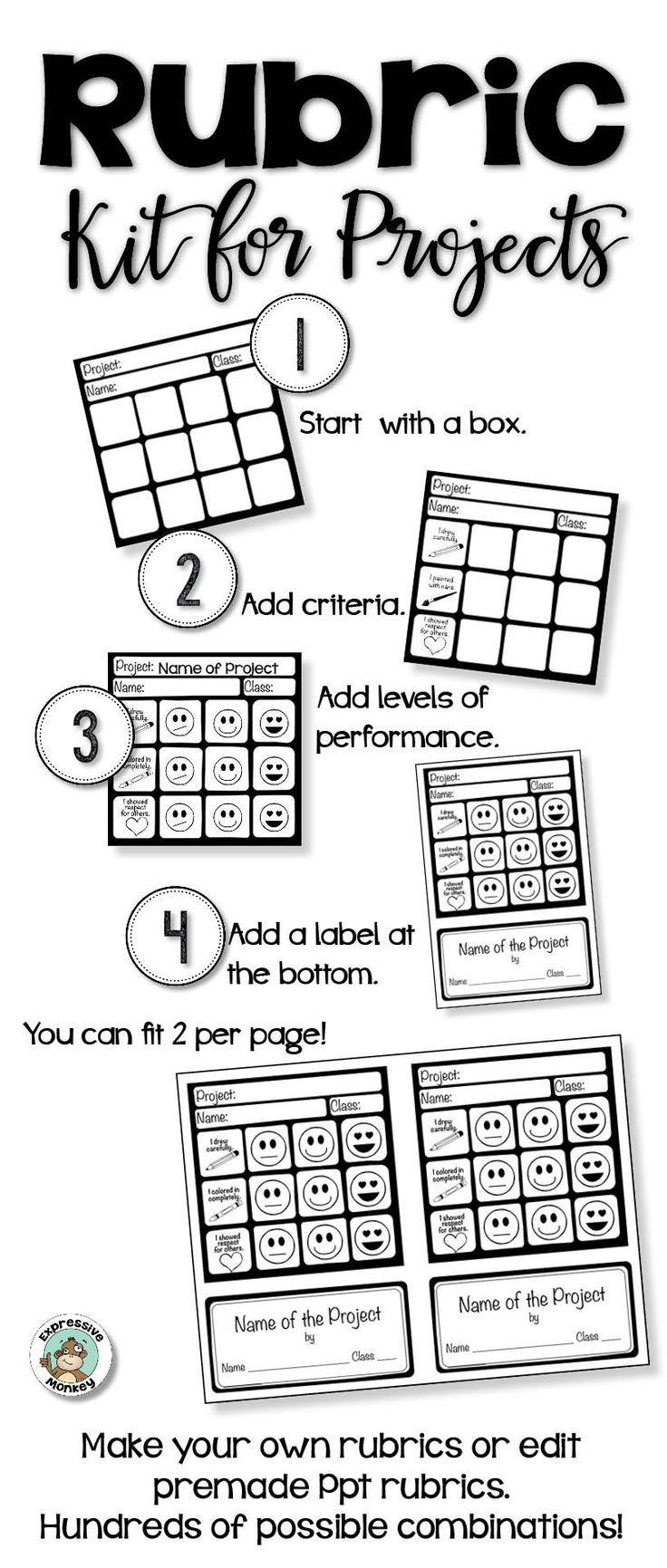 Make creating rubrics easier! - editable rubrics - rubrics in art education - student self-reflection - assessments for elementary art -
