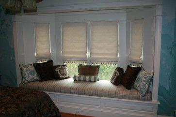 window seat trim | ... window seat traditional roman blinds dc metro by masterworks window
