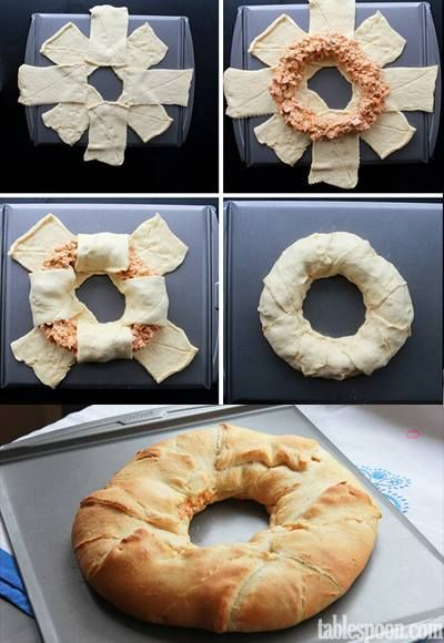 Homemade Buffalo Chicken Crescent Ring