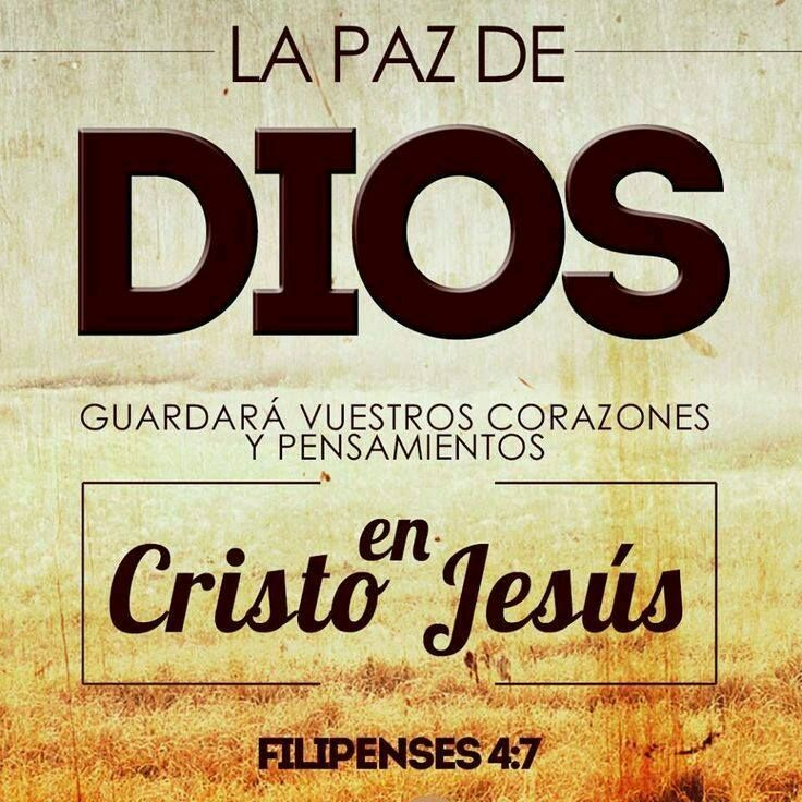 << La paz de Dios guardará vuestros corazones y pensamientos en Cristo Jesús.>> Filipenses 4:7