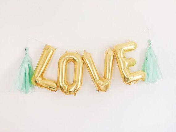 Love letter balloon kit tassels wedding and letter balloons for I love you letter balloons