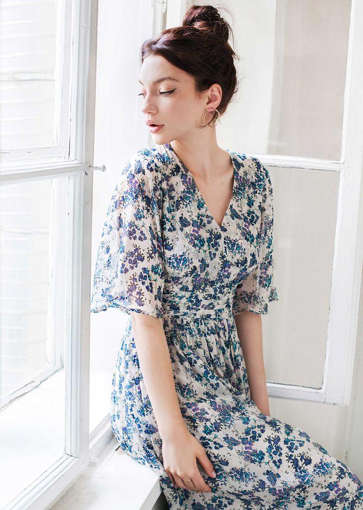 Scarlett dress - blue print - coming soon
