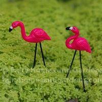 miniature pink flamingos lawn ornaments
