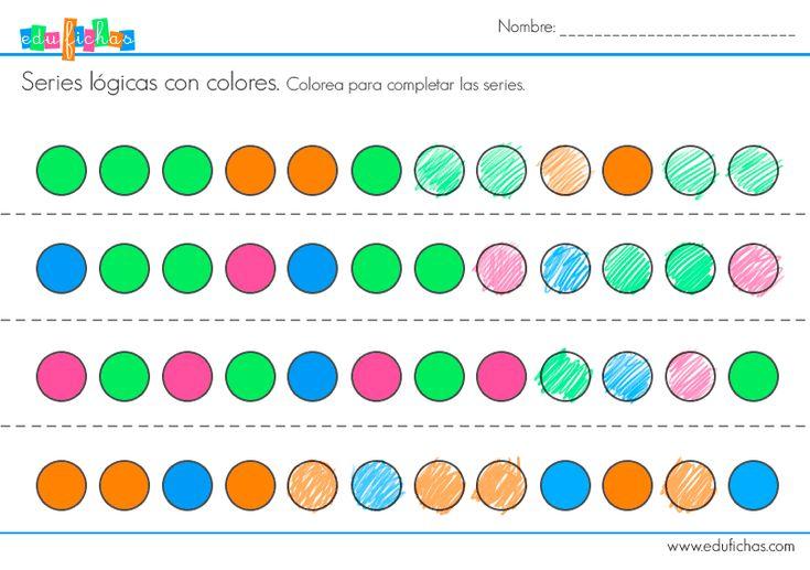serie logica colorear niños  #series #logicas