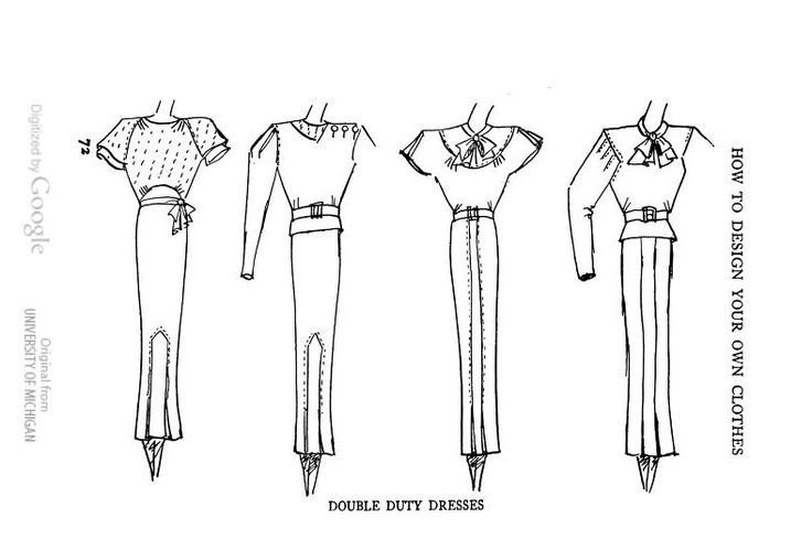 How To Design Your Own Clothes (1934) ~ double duty dresses