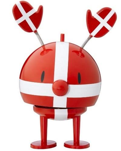 "Danish flag ""Hoptimist"" with clap hat."