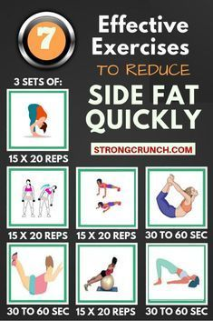 7 EFFECTIVE EXERCISES TO REDUCE SIDE FAT QUICKLY! We all look for new ways to re…