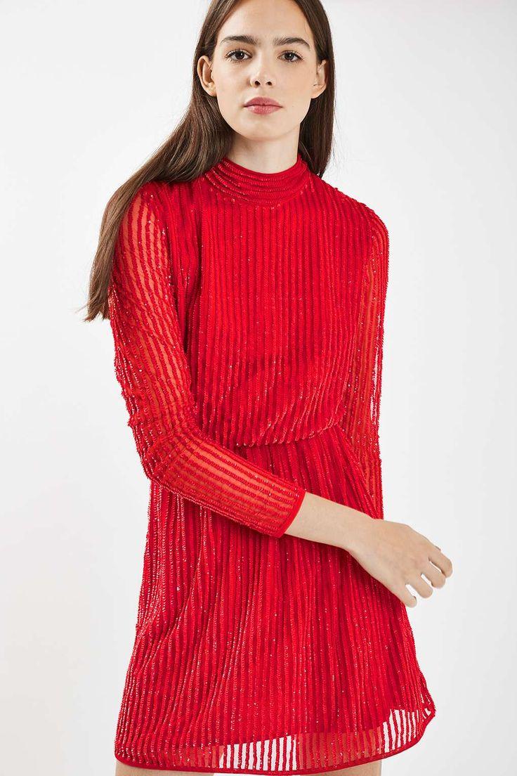 80s Sequin Roll Neck Dress